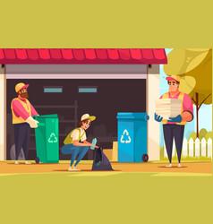 garbage cartoon vector image