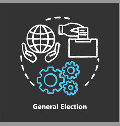 General election chalk concept icon elections vector