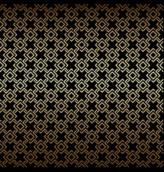 Golden and black seamless pattern art deco style vector