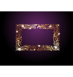 Golden Floral Decorative Frame vector