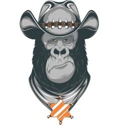 Gorilla - cowboy vector image