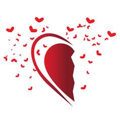 Half heart shape vector
