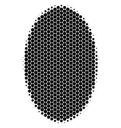 Halftone dot filled ellipse icon vector