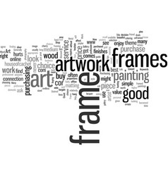 how to frame your art work vector image
