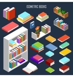 Isometric books vector