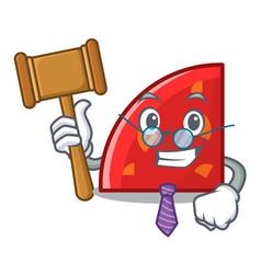 Judge quadrant mascot cartoon style vector