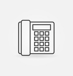 landline phone icon - old telephone concept vector image