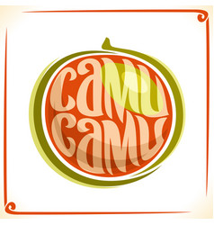 Logo for camu camu vector