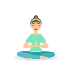 Lotus With Praying Hands Padmasana Yoga Pose vector