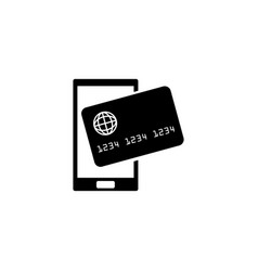mobile payment processing nfc flat icon vector image