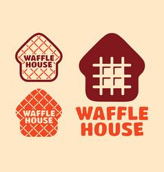 Modern professional set logo waffle house vector