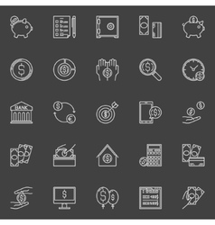 Money economy line icons vector