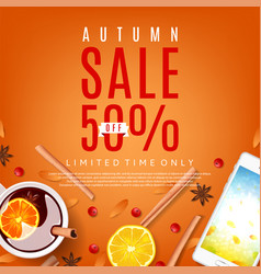 Orange background for autumn sale vector