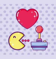 Pacman cute cartoon retro videogame vector