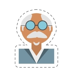 People elegant old man icon image vector