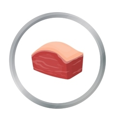 Pork belly icon in cartoon style isolated on white vector image