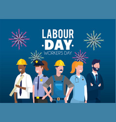 Professional employers to labour day celebration vector