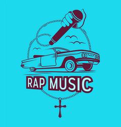 rap music vector image