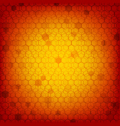 red background hexagon stacking pattern vector image