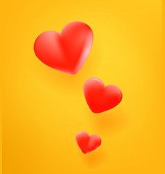 red cute heart icon 3d comic style editable vector image