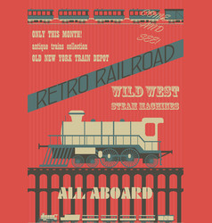 retro railroad vector image