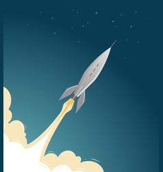 Rocket flies into space spaceflight spacecraft vector