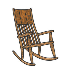 rocking chair sketch engraving vector image