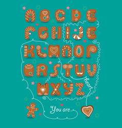 romantic cipher text you are my sweet heart vector image