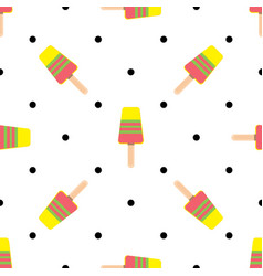 seamless pattern on summer theme with ice vector image
