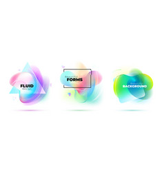 Set abstract liquid elements for background vector