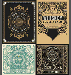 Set of antique labels vector