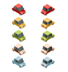 set of isometric car icons2 vector image vector image