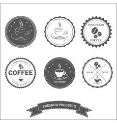 Set vintage retro coffee vector image