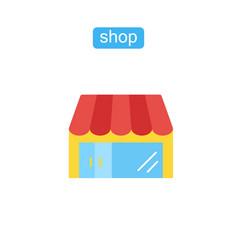 shop simple store icon vector image