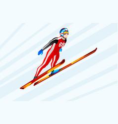 ski jumping winter sports vector image