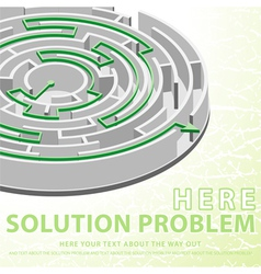 solution concept vector image