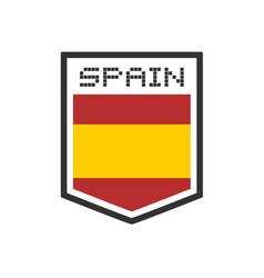 spanish emblem vector image