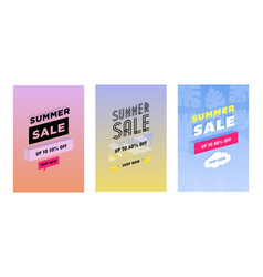 summer set of sale and gift tags labels with fun vector image