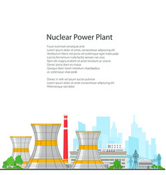 thermal power station on white background vector image