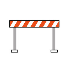 Traffic fence isolated icon vector