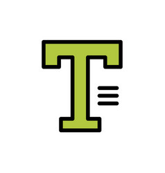 type text write word flat color icon icon banner vector image
