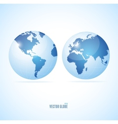 Vecrot globe set vector