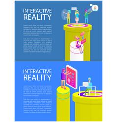 virtual reality text sample vector image