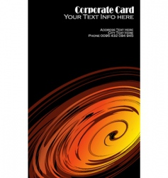 Vortex effect business card vector
