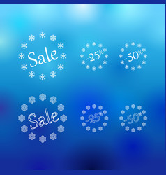 winter sale europe vector image