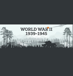 world war ii 1939-1945 military concept with vector image