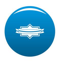 badge ribbon icon blue vector image
