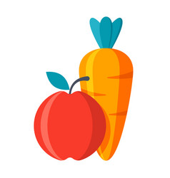 carrot with apple vector image