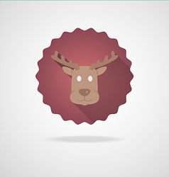 Deer Head Icon on white Background vector image vector image
