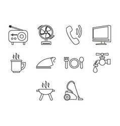 Home and furniture icon set vector